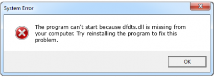 dfdts.dll file error