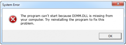 dimm.dll file error