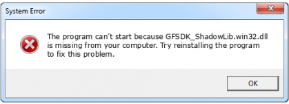 gfsdk_shadowlib.win32.dll file error