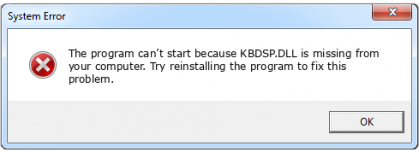 kbdsp.dll file error