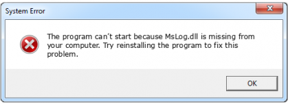 mslog.dll file error